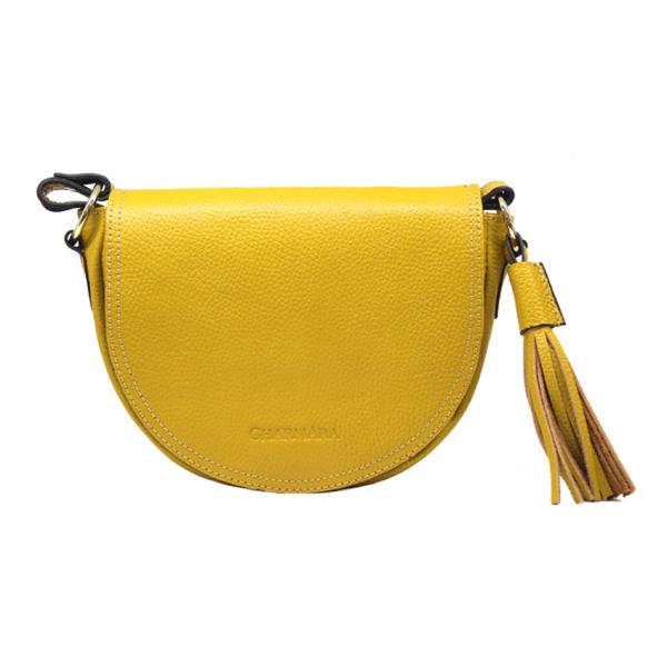 کیف زنانه چرم آرا نیم دایره
