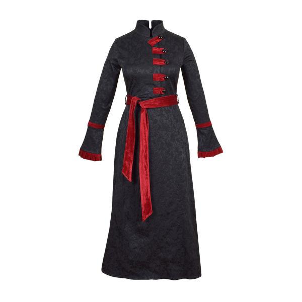 مانتو سنتی زنانه عاطفه نادری مشکی قرمز
