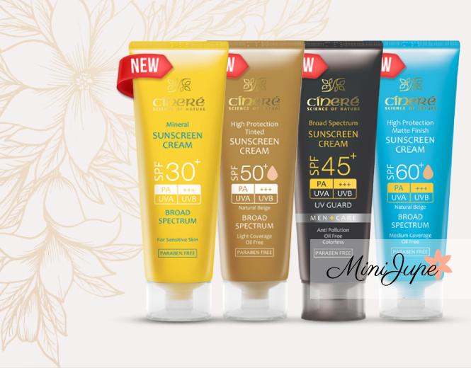 کرم ضد آفتاب سینره برای انواع پوست + خرید