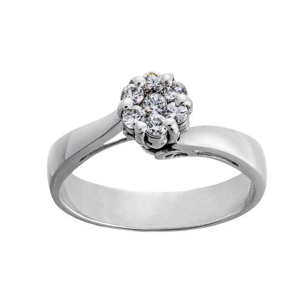انگشتر طلا 18 عیار زنانه جواهری سون مدل 2615