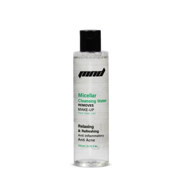 محلول پاک کننده آرایش ام ان دی میسلار واتر کد 113 حجم 200 میلی لیتر